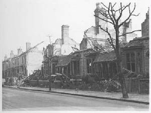 Albert Road bomb damage February 13th 1941